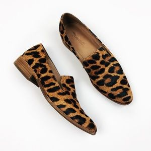 Madewell Frances Loafer Leopard Calf Hair Size 8